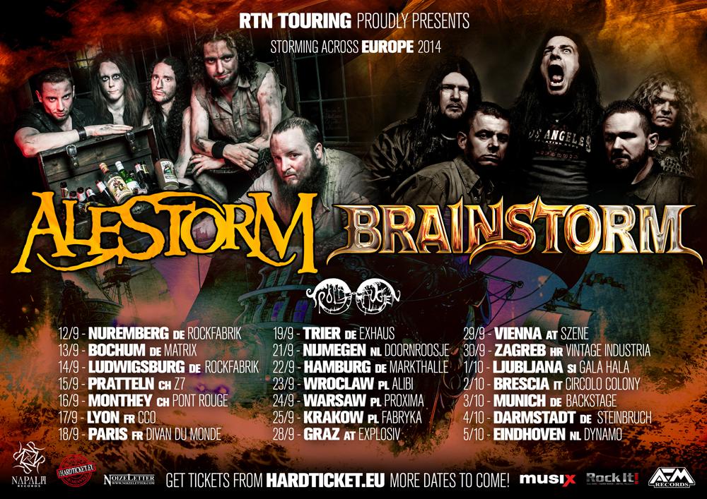 Alestorm & Brainstorm tour 2014
