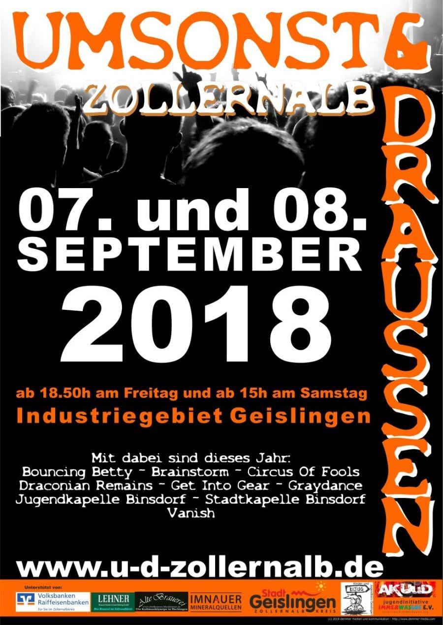 Umsonst & Draussen Zollernalb 2018