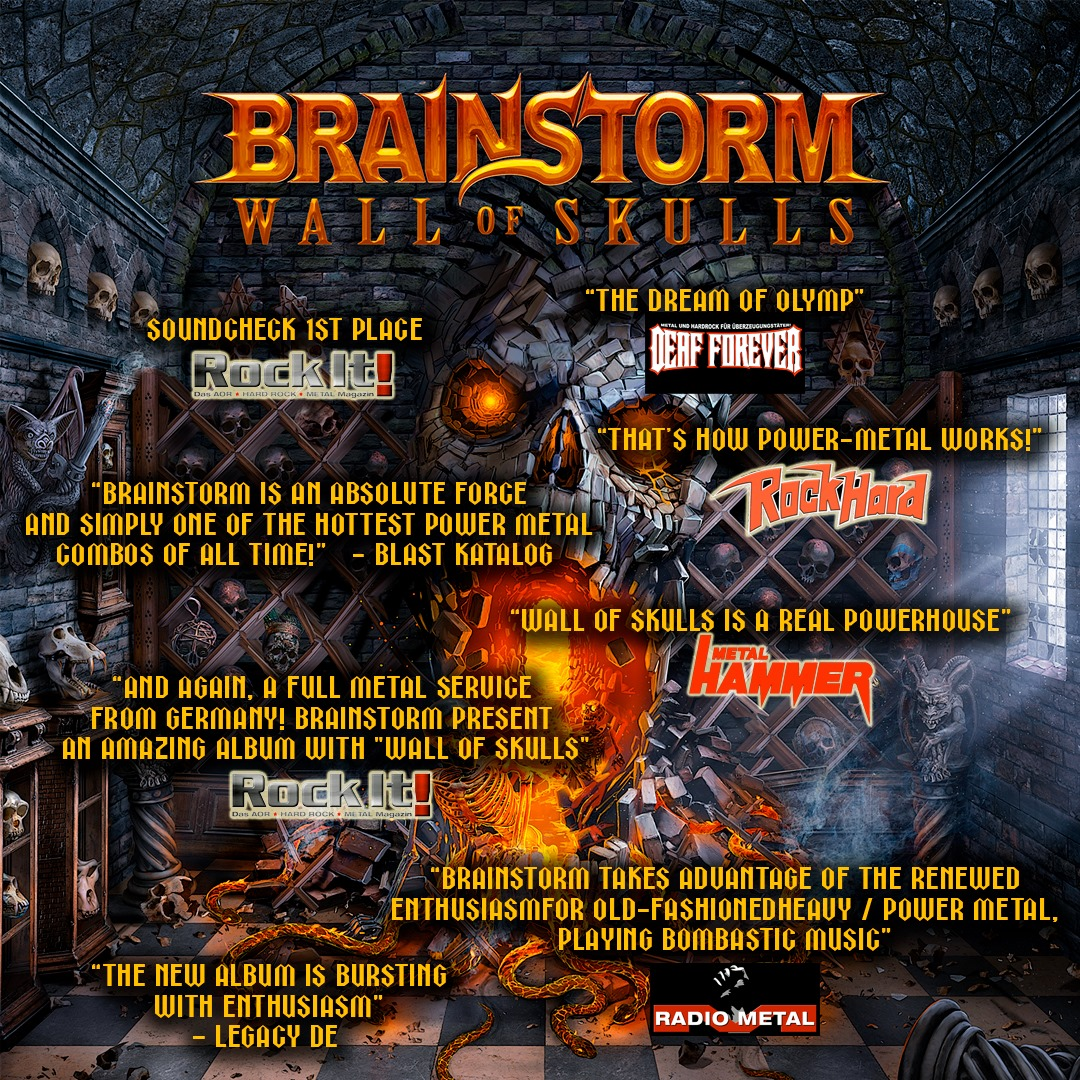 """Featured image for """"Wall Of Skulls OUT NOW, great ratings!"""""""